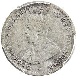 AUSTRALIA: George V, 1910-1936, AR threepence, 1922/1(m). PCGS VG