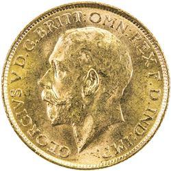 AUSTRALIA: George V, 1910-1936, AV sovereign, 1915-S. UNC