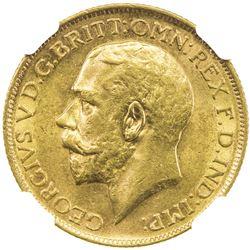AUSTRALIA: George V, 1910-1936, AV sovereign, 1917-S. NGC MS62