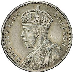 AUSTRALIA: George V, 1910-1936, AR florin. AU