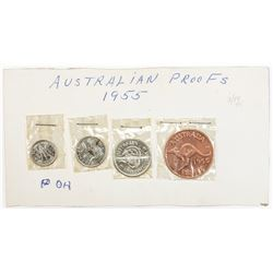 AUSTRALIA: Elizabeth II, 1952, Proof Set, 1955(m). PF