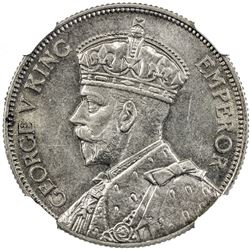 NEW ZEALAND: George V, 1910-1936, AR florin, 1933. NGC MS64