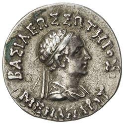 INDO-GREEK: Menander I, ca. 155-130 BC, AR tetradrachm (8.66g). VF