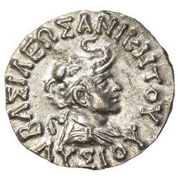 INDO-GREEK: Lysias, ca. 120-110 BC, AR drachm (2.40g). AU