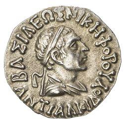 INDO-GREEK: Lysias, ca. 120-110 BC, AR drachm (2.40g). EF-AU