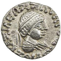 INDO-GREEK: Zoilos II, ca. 55-35 BC, AR drachm (1.79g). EF