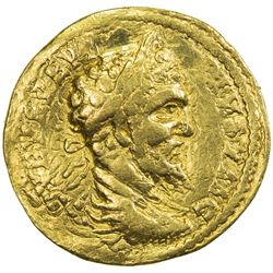 INDO-ROMAN: Septimius Severus, 193-211, AV aureus (6.96g). VF