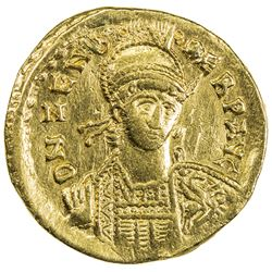 INDO-ROMAN: Zeno, 2nd reign, 476-491, AV solidus (4.37g). VF
