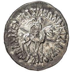 INDO-SCYTHIAN: Vonones, ca. 100-65 BC, AR tetradrachm (9.39g). EF