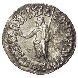 INDO-SCYTHIAN: Maues, ca. 90-57 BC, AR tetradrachm (9.32g). EF