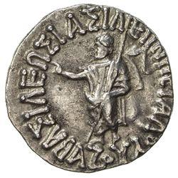 INDO-SCYTHIAN: Azes I, ca. 57-35 BC, AR drachm (2.24g). EF