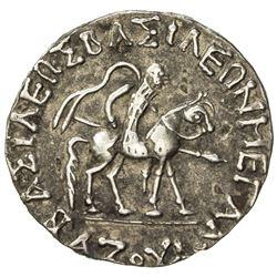 INDO-SCYTHIAN: Azes I, ca. 57-35 BC, AR tetradrachm (9.46g). VF-EF