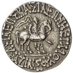 INDO-SCYTHIAN: Azilises, ca. 57-35 BC, AR tetradrachm (10.01g). VF-EF