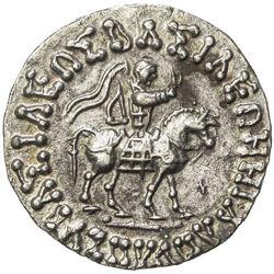 INDO-SCYTHIAN: Azes II, ca. 35 BC - AD 5, AR tetradrachm (9.33g). EF-AU