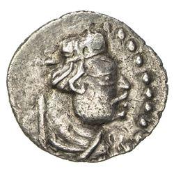 KUSHAN: Heraios, ca. 1-30 AD, AR obol (0.66g). EF