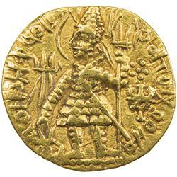 KUSHAN: Vasu Deva I, ca. 191-230+, AV dinar (7.73g). VF
