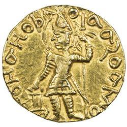 KUSHAN: Vasu Deva I, ca. 191-230+, AR dinar (7.93g). EF