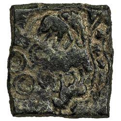 ERAN: AE square unit (5.24g), ca. 3rd century BC. VF