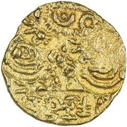 CHALUKYAS: Jayasimha II Jagadekamalla, ca. 1015-1043, AV pagoda (3.43g). EF
