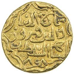 KULBARGA (BAHMANIDS): Taj al-Din Firuz Shah, 1397-1422, AV tanka (11.01g), NM, AH808. VF-EF