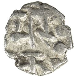 AMIRS OF MULTAN: Fahad, 10th century, AR damma (0.48g), NM, ND. VF
