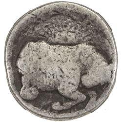 MUGHAL: Jahangir, 1605-1628, AR zodiac rupee, Ahmadabad, AH1027 year (13). NGC AG