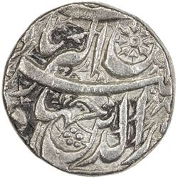 MUGHAL: Jahangir, 1605-1628, AR jahangiri rupee (13.31g), Qandahar, AH1022 year 8. VF