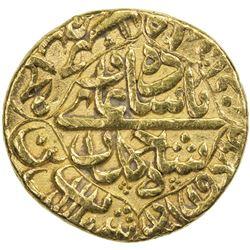 MUGHAL: Shah Jahan I, 1628-1658, AV dinar (10.91g), Daulatabad, AH1063 year 27. VF-EF