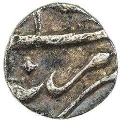 MUGHAL: Aurangzeb, 1658-1707, AR 1/16 rupee (0.72g) (Akbarnagar), year 24. VF-EF