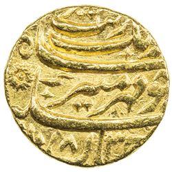 MUGHAL: Aurangzeb, 1658-1707, AV mohur (10.96g), Kabul, AH1083 year 15. EF