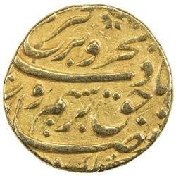 MUGHAL: Farrukhsiyar, 1713-1719, AV mohur (10.91g), Khujista Bunyad, year 7. VF