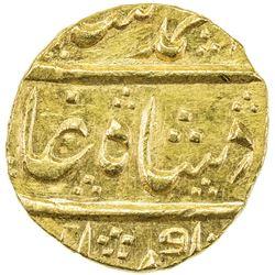 MUGHAL: Muhammad Shah, 1719-1748, AV mohur (11.10g), Kambayat, year 21. UNC