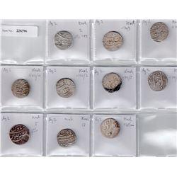 MUGHAL: Alamgir II, 1754-1759, LOT of 10 rupees