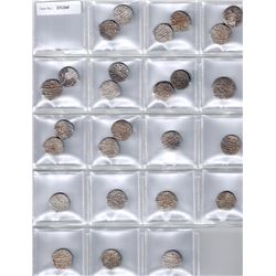 MUGHAL:LOT of 27 rupees of the Lahore mint