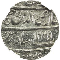 AWADH: Ghazi-ud-Din Haidar, 1819-1827, AR rupee, Lucknow, AH1235 year 1. NGC MS64