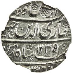 AWADH: Ghazi-ud-Din Haidar, 1819-1827, AR rupee, Lucknow, AH1237 year 3. NGC MS64