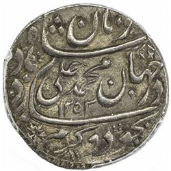 AWADH: Muhammad Ali Shah, 1837-1842, AR rupee, Lucknow, AH1253 year one. PCGS AU53