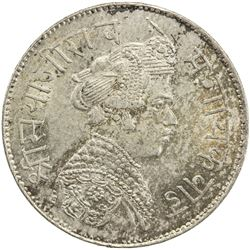 BARODA: Sayaji Rao III, 1875-1938, AR rupee (11.34g), VS1952. AU