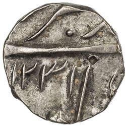 HYDERABAD: Sikandar Jah, 1803-1829, AR 1/4 rupee (2.80g), Farkhanda Bunyad Hyderabad, AH1231. EF