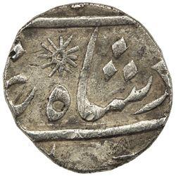 BENGAL PRESIDENCY: AR 1/4 rupee (2.82g) (Kalkata), year 6. VF