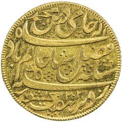 """BENGAL PRESIDENCY: AV mohur (12.35g), """"Murshidabad"""", AH1202 year 19 (frozen). UNC"""