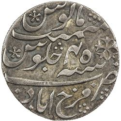 BENGAL PRESIDENCY: AR rupee (11.67g), Farrukhabad, frozen year 45. VF-EF