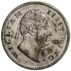BRITISH INDIA: William IV, 1830-1837, AR 1/2 rupee, 1835(c). PCGS PF65