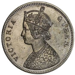BRITISH INDIA: Victoria, Empress, 1876-1901, AR rupee, 1876. PCGS PF64