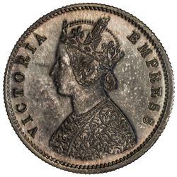 BRITISH INDIA: Victoria, Empress, 1876-1901, AR 1/2 rupee, 1891(c). PCGS PF64