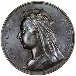 BRITISH INDIA: Victoria, Empress, 1876-1901, AR medal (250g), 1883/84. EF