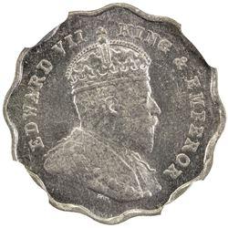 BRITISH INDIA: Edward VII, 1901-1910, anna, 1908-B. NGC MS63