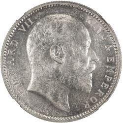 BRITISH INDIA: Edward VII, 1901-1910, AR rupee, 1903(c). NGC MS62