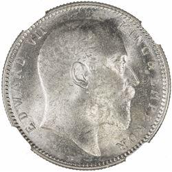 BRITISH INDIA: Edward VII, 1901-1910, AR rupee, 1906(c). NGC MS63