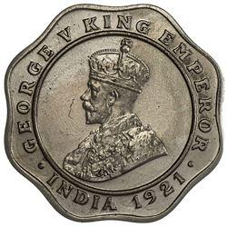 BRITISH INDIA: George V, 1910-1936, 4 annas, 1921(c). PCGS PF64